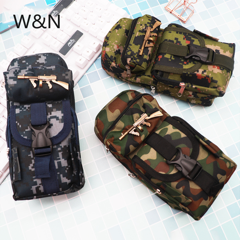 School Pencil Case For Boys Camouflage Big Pencil Case Multifunction Large Capacity Pen Box Bag Kids Gift Stationery Supplies