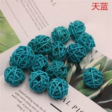 1 Pcs/3 Cm 2020 Hot Sale Langit Biru Bola Dekoratif Taruhan & Angin Pemintal Halaman Planter Warna-warni Taruhan indoor dan Outdoor Dekorasi(China)