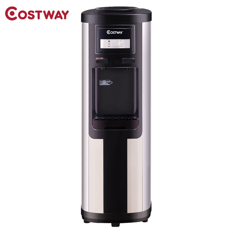 COSTWAY 5 Gallon Top Loading Stainless Steel Cold Hot Drink Water Dispenser For Home Office EP22901