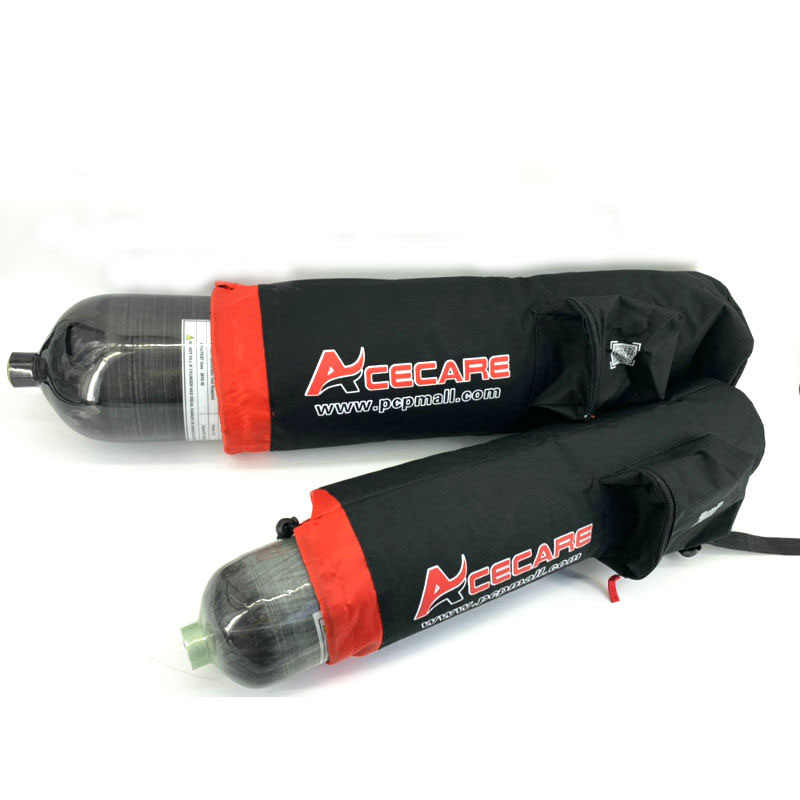 Cilindros de pistola de aire Pcp 3L, 6.8L, 9L tanque de Paintball Airforce Cóndor 300Bar bolsa de botella de fibra de carbono para Rifle de aire Pcp Acecare