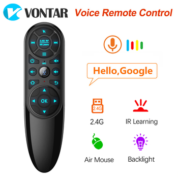 VONTAR Q6 Pro Voice Remote Control 2.4G Wireless Air Mouse Gyroscope IR Learning for Android tv box H96 X96 Max Plus X96 mini