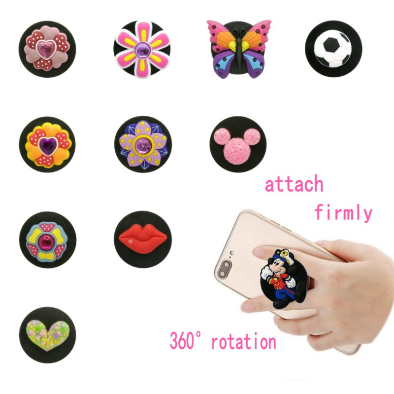 1pcs Beautiful Flower Universal Mobile Phone Bracket Lips Heart Expanding Stand Phone Holders&Stands Football Phone Accessories