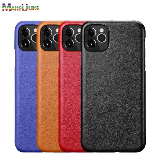 Genuine Leather Case For iPhone X XR XS Max 11 Pro MAX 11Pro Cover Funda Capa Matte Real Leather Case For iPhone XR XS Max Case
