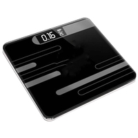 Bathroom Floor Humanscale Glass Intelligent Electronic Scale Usb Charging Lcd Display a thermometer with a temperature sensor Bathroom Scales     -