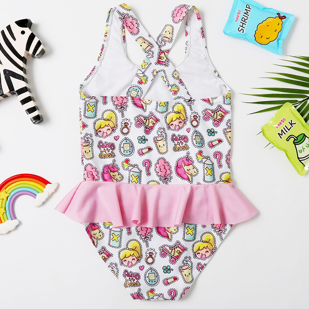 One-piece Swimsuit For Children Cool GIRL'S Tour Bathing Suit AliExpress GIRL'S Swimsuit CHILDREN'S Bathing Suit 2061