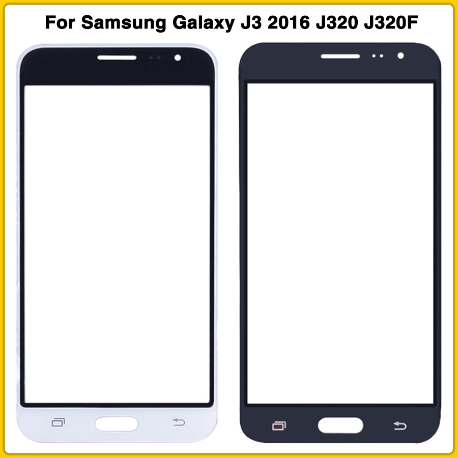 New <font><b>LCD</b></font> front glass For <font><b>Samsung</b></font> Galaxy J3 2016 J320 J320F J320M J320H <font><b>J320FN</b></font> Display Digitizer Sensor outer Glass Touch Screen image