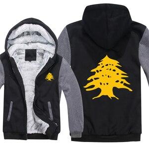 Image 5 - Flaga libanu bluzy z polaru na zamek błyskawiczny zagęścić mężczyzn odzież sweter fajne liban bluza mężczyzn