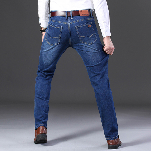 New Mens Fashion Black Blue Jeans Casual Slim Stretch Classic Denim Plus Size 28-40 High Quality