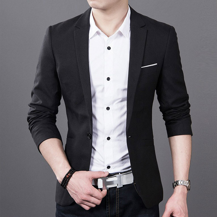 2018 Spring And Autumn New Style Youth Trend Leisure Suit Men Slim Coat Korean-style Thin Small Suit