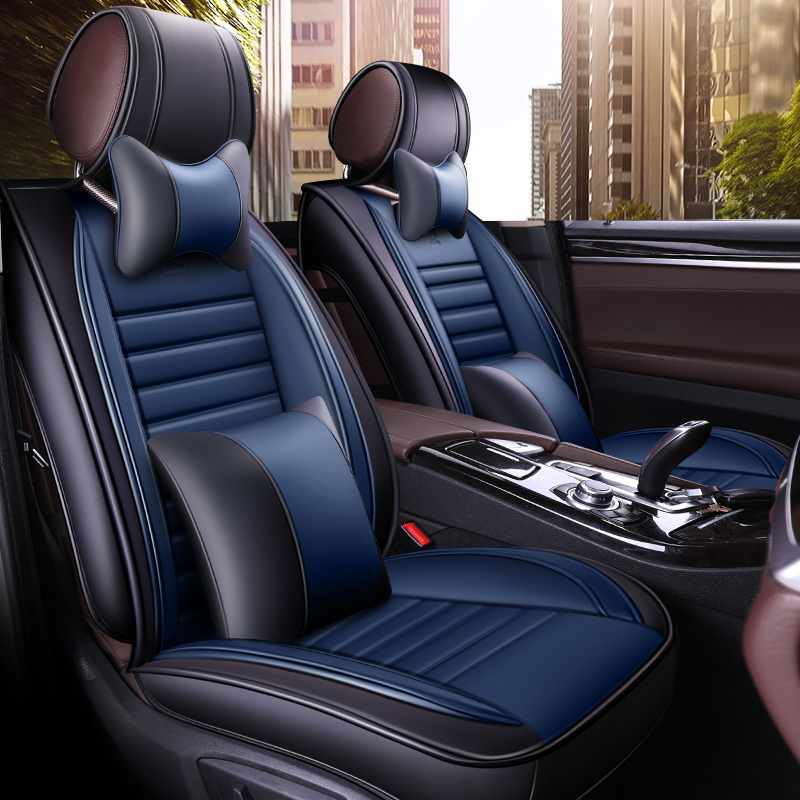 Black PU Leather /& Fabric Look Seat Covers For Ford Focus Fiesta Kuga C-Max