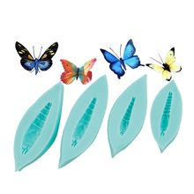 Butterfly Wing & Body Mould Silicone Mold Fondant Cake Decorating Tool Gumpaste Sugarcraft Chocolate Forms Bakeware 3d bee honeycomb silicone mold fondant mould cake decorating tools chocolate gumpaste mold