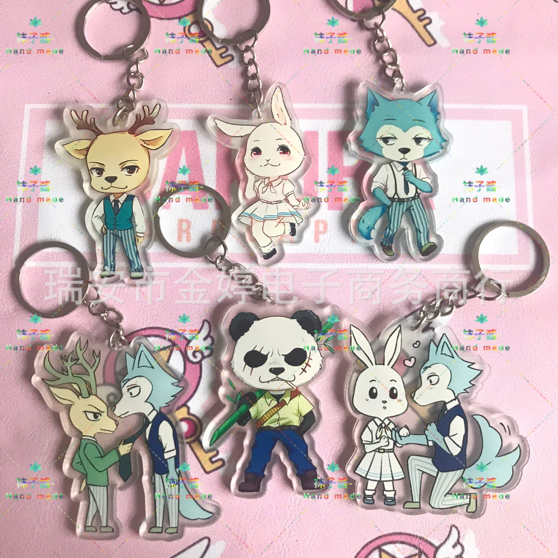 New Anime BEASTARS LEGOSI Cosplay Accessories Haru Spring Keychain Cute Jick Louis Pendant Acrylic Keyring Juno Key Chain Gifts