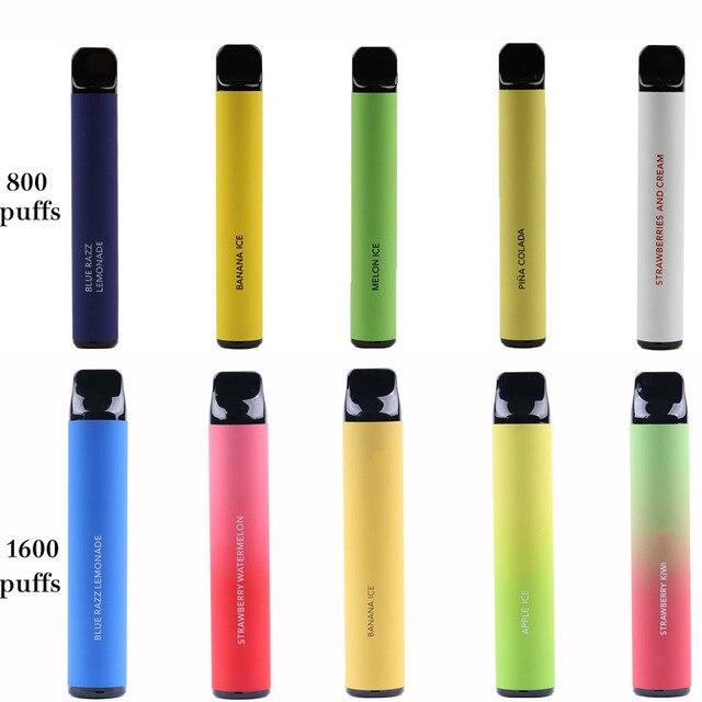Fruits Flavor 800 Puffs 1600 puffs 2000 puffs  Vapor Electronic Shisha Stick Pen Safe Vaporizer Mini Cigarettes  vs plus xxl