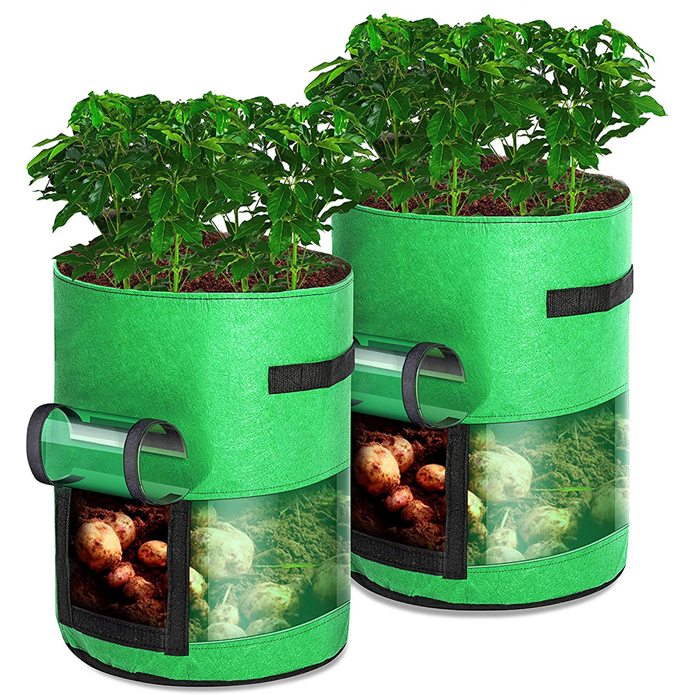 7//10 Gallons Transparent Visible Greenhouse DIY Planting Potato Grow Bags Plant