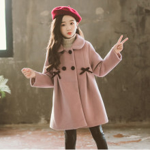 Children Jacket for Girls Winter Wool Warm Overcoat Fashion Girls Clothes Kids Outerwear Autumn Girls Coat 4 6 8 10 12 13 Years(China)