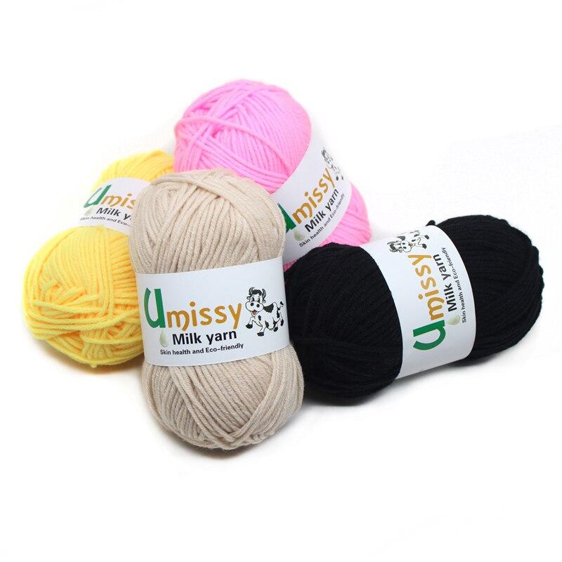 Wholesale 30pcs Yarn For Hand Knitting Milk Cotton Knitting Yarn Soft Warm Baby Supplies 80% Silk Fiber Lamp, 20% Cashmere