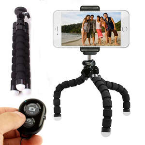 Image 5 - Phone Tripod, Portable And Adjustable Camera Stand Holder With Wireless Remote And Universal Clip For Iphone, Android Phone, Cam