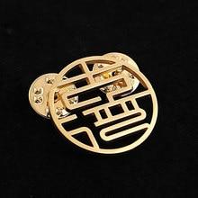 Cazador spersonalizowany obraz broszka Pin konfigurowalne odznaki biżuteria przypinki na klapę nazwa ze stali nierdzewnej broszka na biżuteria Unisex