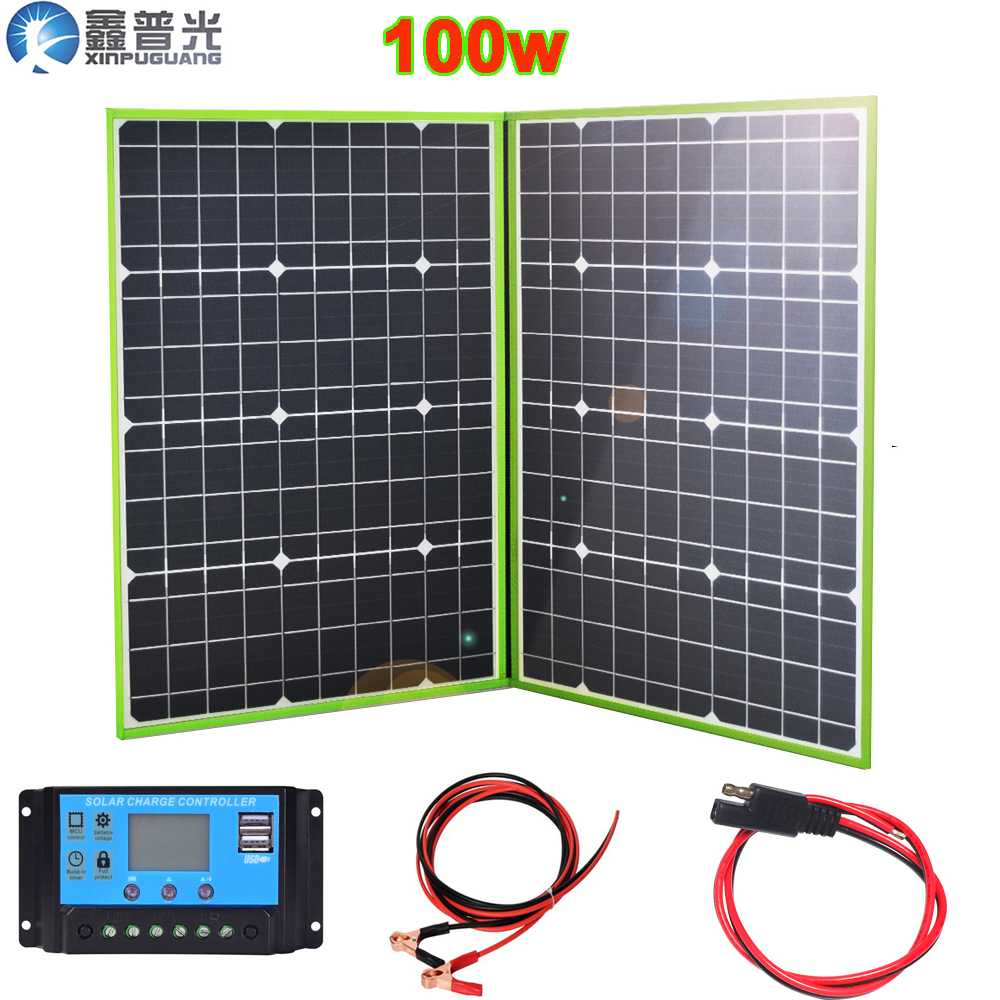 100w 150w 200w 300w 12v 20v flexible solar panel foldable portable home kit outdoor battery charger 5v usb car RV hiking camping in Solar Cells from Consumer Electronics