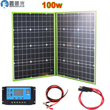 100w 150w 200w 300w 12v/20v flexible solar panel foldable portable home kit outdoor battery charger 5v usb car RV hiking camping