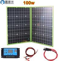 xinpuguang 100w 150w 150w 200w 300w 300w 12v/20v гибкая солнечная батарея панель складной портативный домашний комплект наружного зарядного устройства 5v USB для ...