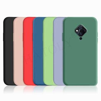 Перейти на Алиэкспресс и купить ДЛЯ Vivo Y50 Y30 чехол Vivo Y17 Y19 Y12 V15 V11 V17 Pro жидкий силиконовый ударопрочный бампер мягкий чехол для задней панели телефона для Vivo V17