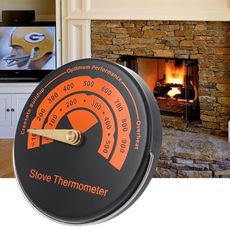 Alloy Magnetic Stove Flue Pipe Thermometer - Temperature Gauge For Wood Burner