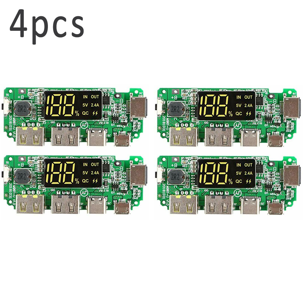 4pcs 186 50 Charging Board Dual USB 5V 2.4A Mobile Power Bank Module 58238471071