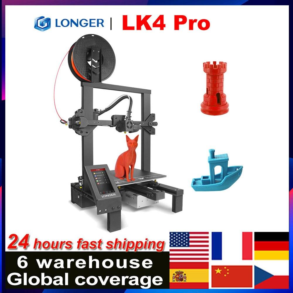 Больше LK4 Pro FDM 3D-принтеры с 4,3 дюймов полный Цвет сенсорного экрана TMC2208 ультра-тихий драйвер нить принт Размеры 220x220x250mm