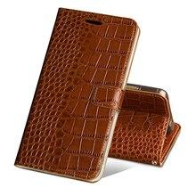 Flip Case Voor Huawei P10 P20 P30 Lite Mate 10 20 Lite Pro Y6 Y7 Y9 P Smart 2019 Krokodil graan Voor Honor 7X 8X 9 9X 10 20 Lite