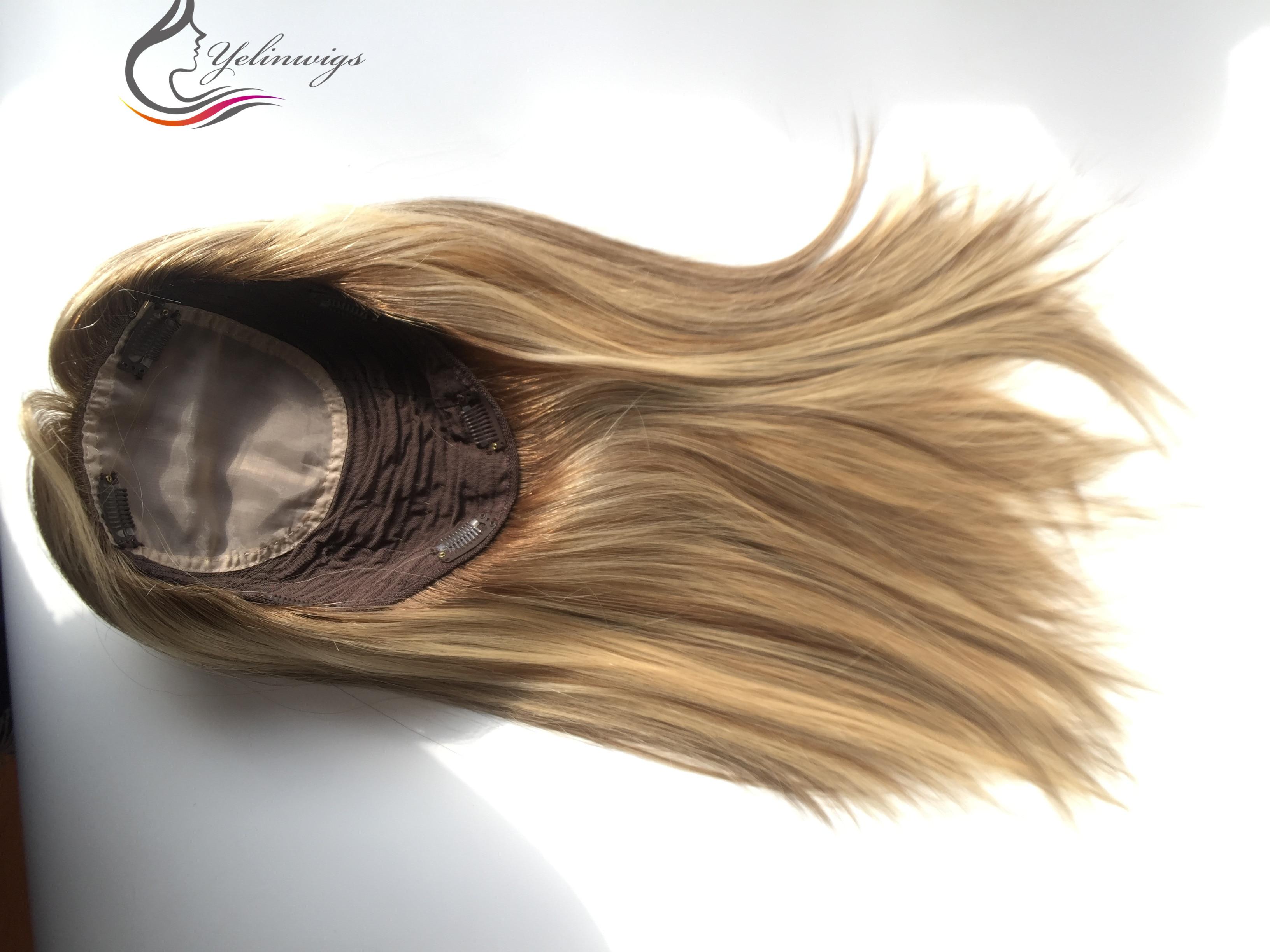 Destaque Polegada Europeu Virgem Cabelo Topper Feminino Peças Melhor Venda Kippah Queda Whopper Cor 18
