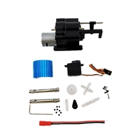 3PCS 2 Speed Gear Box with 370 Motor Drive Shaft for WPL B1/1/14/16/24 C14 1/16 Rc