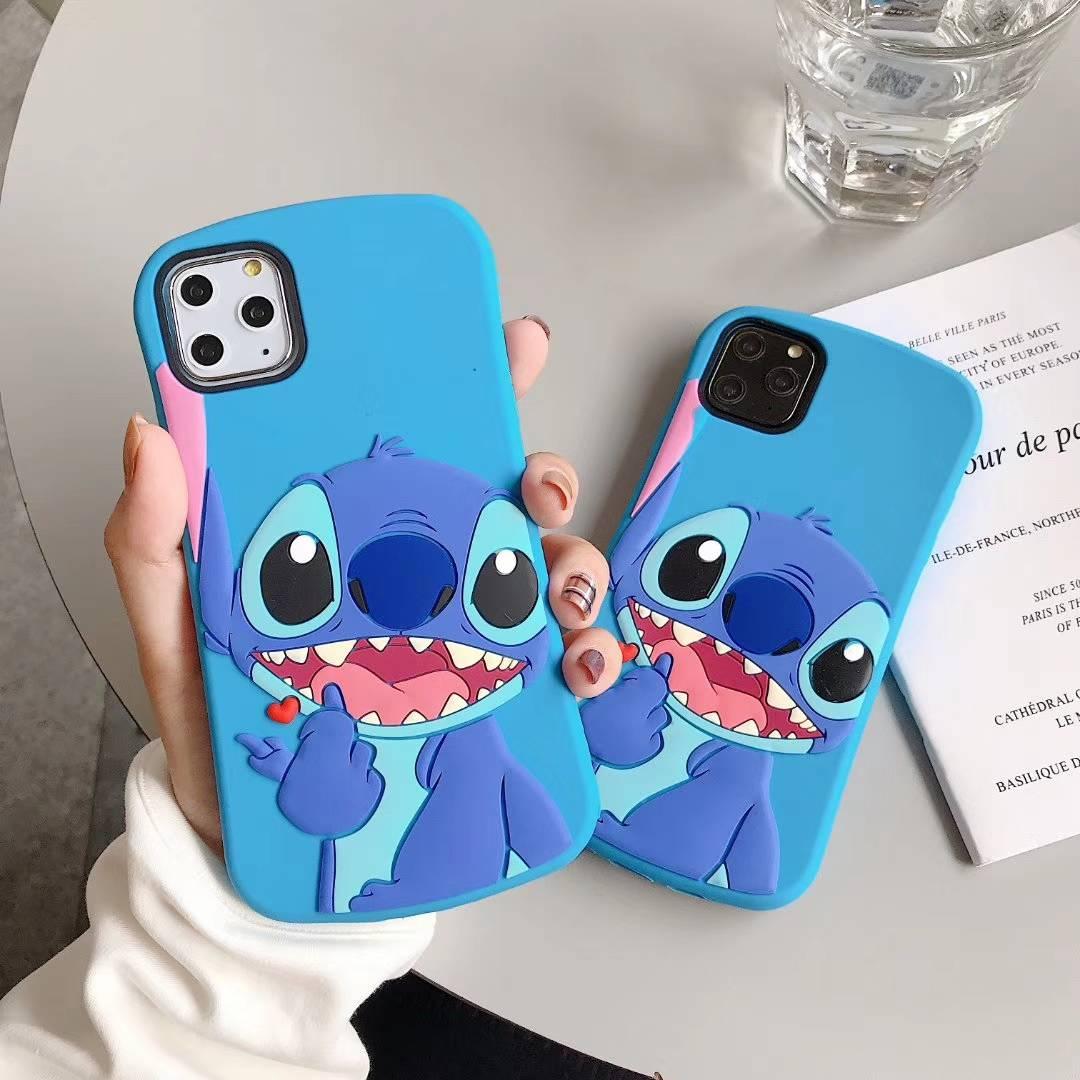 3D Cartoon Cute Slim Stitch Silicone Back Cover For iPhone 5 5s SE 5C 6 6s X XR Xs 11 Pro Max 7 8 Plus Phone Cases Fundas Coque