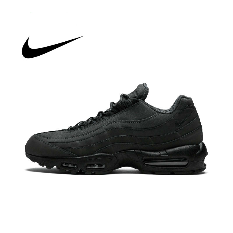 Original Authentic NIKE AIR MAX 95 ESSENTIAL Men Sneakers Damping Running Shoes Fashion Anti-slippery Good Quality 749766-009