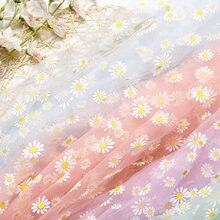 Robe d'été en tissu Organza imprimé marguerite pour filles, tenue de princesse en Tulle, décoration faite à la main, bricolage de vêtements, tendance
