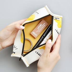 Image 1 - Süper satış meyve kek macaron çerez kore japon kalem çantası durumda çantası okul makyaj okul malzemeleri kırtasiye