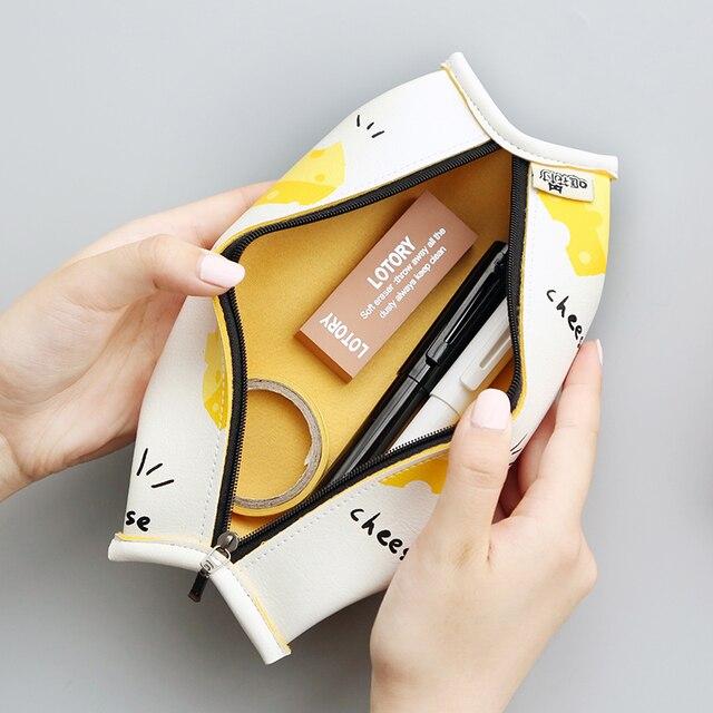 Süper satış meyve kek macaron çerez kore japon kalem çantası durumda çantası okul makyaj okul malzemeleri kırtasiye