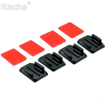 Mounts For GoPro 7 6 Curved Flat Mounts 3M Sticky Pads for Go Pro Xiaomi Yi SJCAM Action Camera Helmet Board Car image