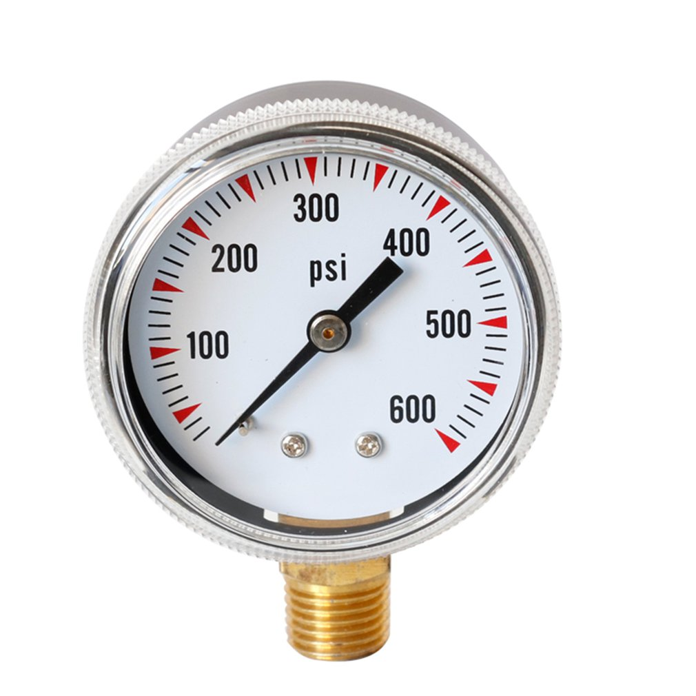 Y50 Air Pressure Meter High Accuracy Fuel Air Oil Liquid Water Pressure Gauge 0-600PSI Bar Hydraulic Vacuum Manometer