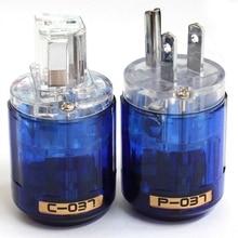 Oyaide C 037 P 037 US Power Plug Rhodium Plated  IEC Audio Connector Female Male MATIHUR audio Transparent hifi