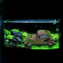 Acuario pecera coche Artificial resina ornamento paisajismo decoración Vintage coche musgo flocado antiguo