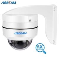 Telecamera IP PTZ da 5mp compatibile Hikvision Mini Dome esterno Onvif PoE IR Zoom automatico CCTV Audio Slot per scheda SD telecamera di sicurezza