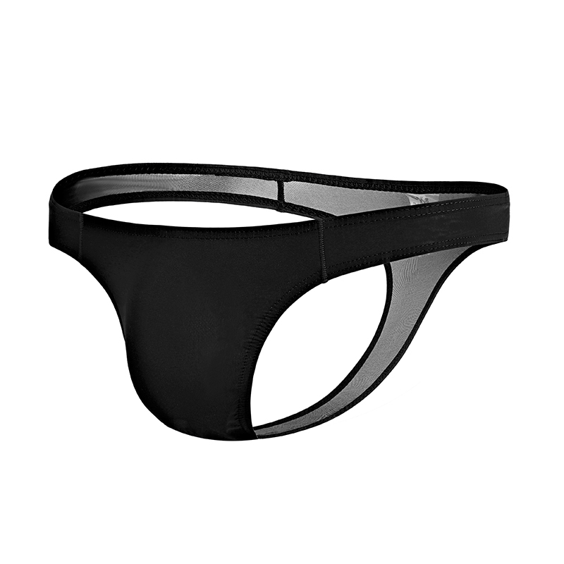 Mens Sexy Elastic Thin Underwear Convex Breathable Panties Triangle Briefs