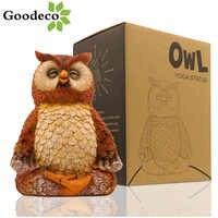 Goodeco Animal Yoga Statues Owl Figurine Meditaing Zen Home Decor Garden Outdoor Owl Decorattion Room Indoor Sculpture Ornament