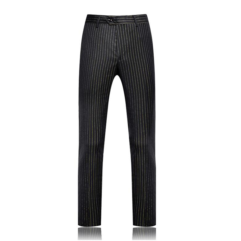 Black Gold Striped Pants S-5XL Business Casual Trousers 2019 New Male Suit Pants