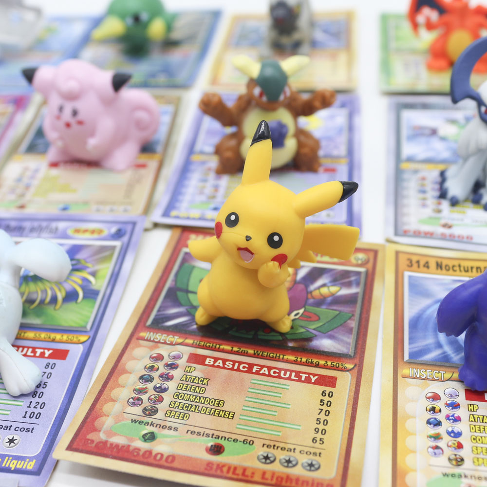 TAKARA TOMY Battle Trading Figure Card Game Gold Cards Action Figures Pokemon Dolls With Cards Collection Toys For Children
