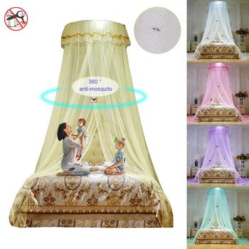 2020New Summer New Romantic Round Mosquito Lace Net For Baby Hung Dome Bed Dome Tents Baby Adults Ceiling Hanging For Home Decor elegant hung dome mosquito nets for summer polyester mesh fabric home textile wholesale bulk accessories supplies products