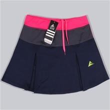 Женская Спортивная юбка для бадминтона, теннисные шорты, весна-лето, быстросохнущие Лоскутные женские тренировочные юбки с безопасными шортами