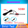 GPRS GSM Antenna 5dBi 433mhz antenna DAB / DAB + Car Radio fm Reinforced CMMB Patch High Gain antena SMA Male Plug With 3M Cable