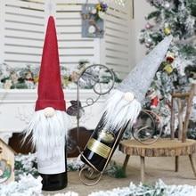 2020 Christmas Wine Bottle Cover Merry Christmas Decor For Home Christmas Table Decor Xmas Gift Happy New Year 2021 Navidad